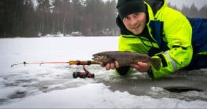 ice fishing trout
