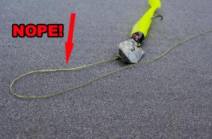 worn fishing line