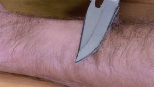 sharp steel knife