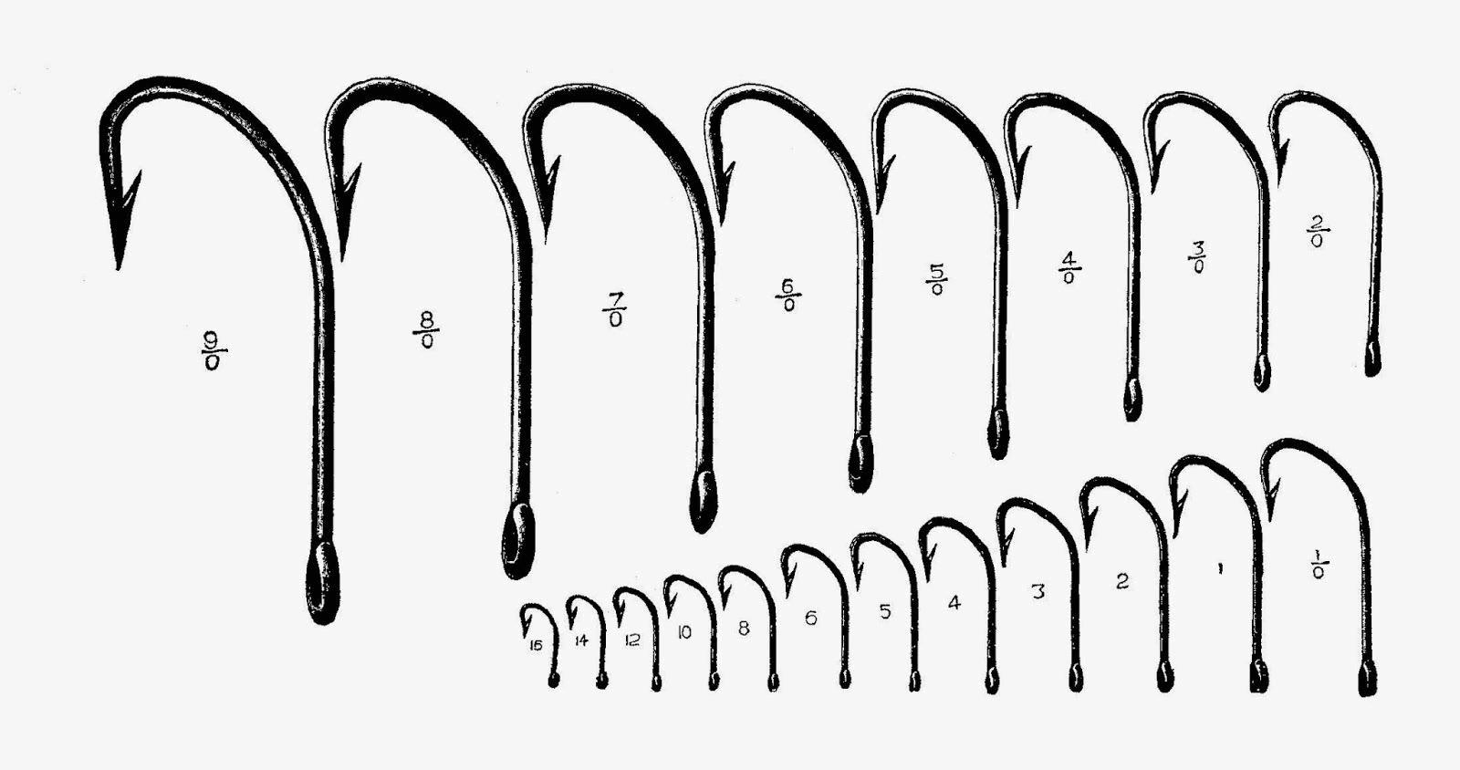 fishing hook sizes