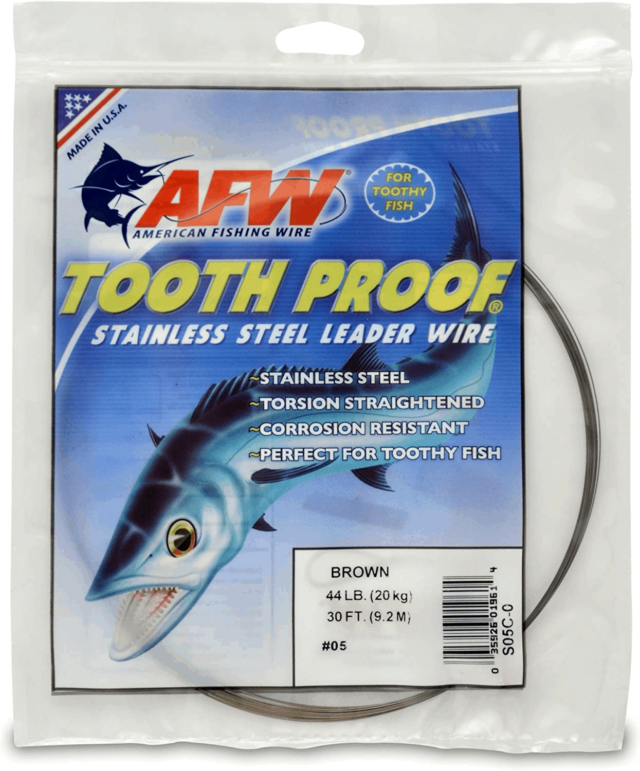 AFW's Tooth Proof Stainless Steel Single Strand Leader Wire