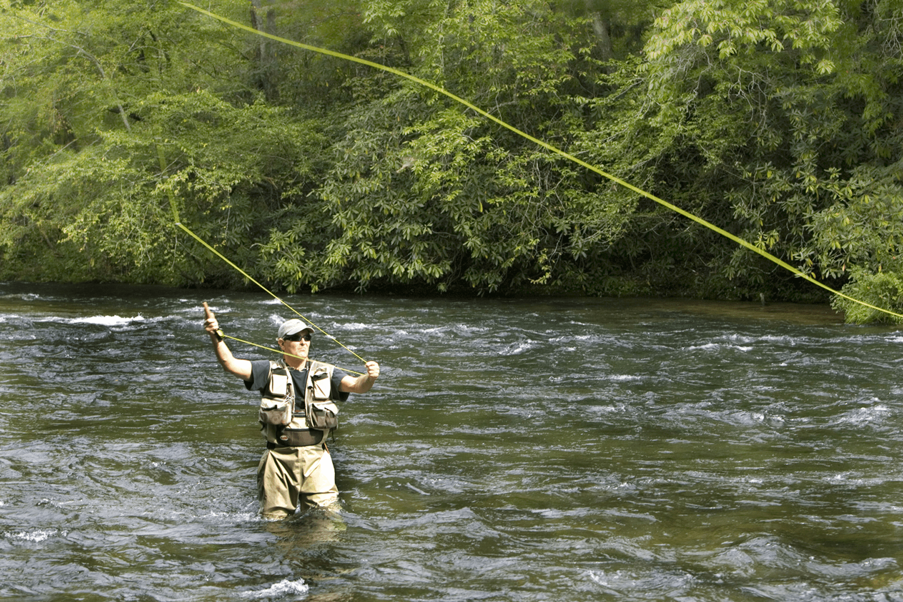 casting fly line with spinning reel
