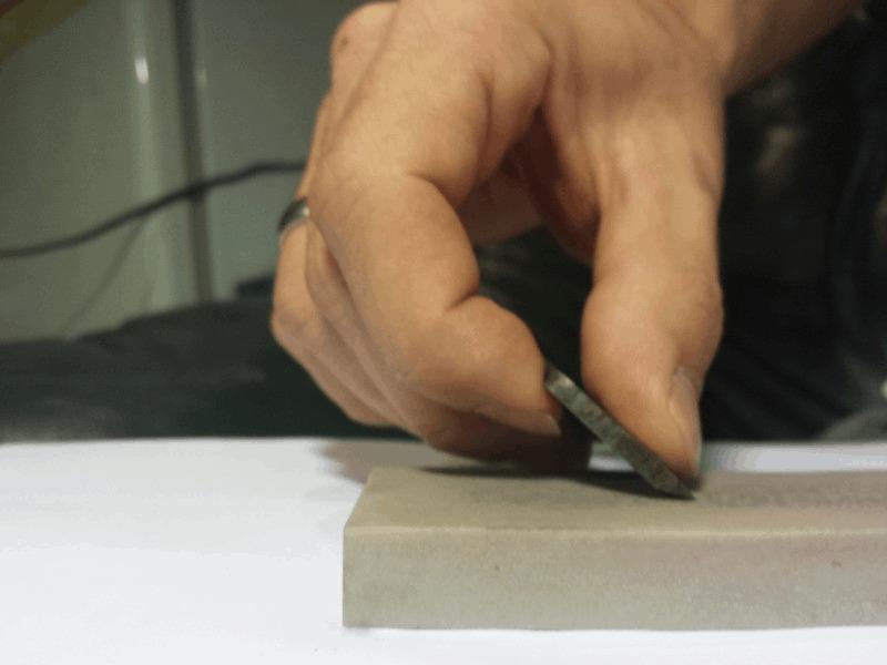 sharpening ice auger blade