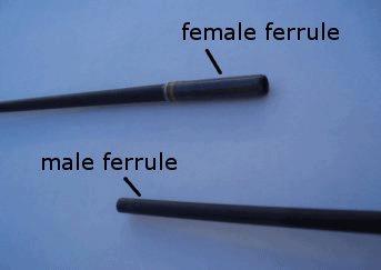 fishing rod male female ferrule