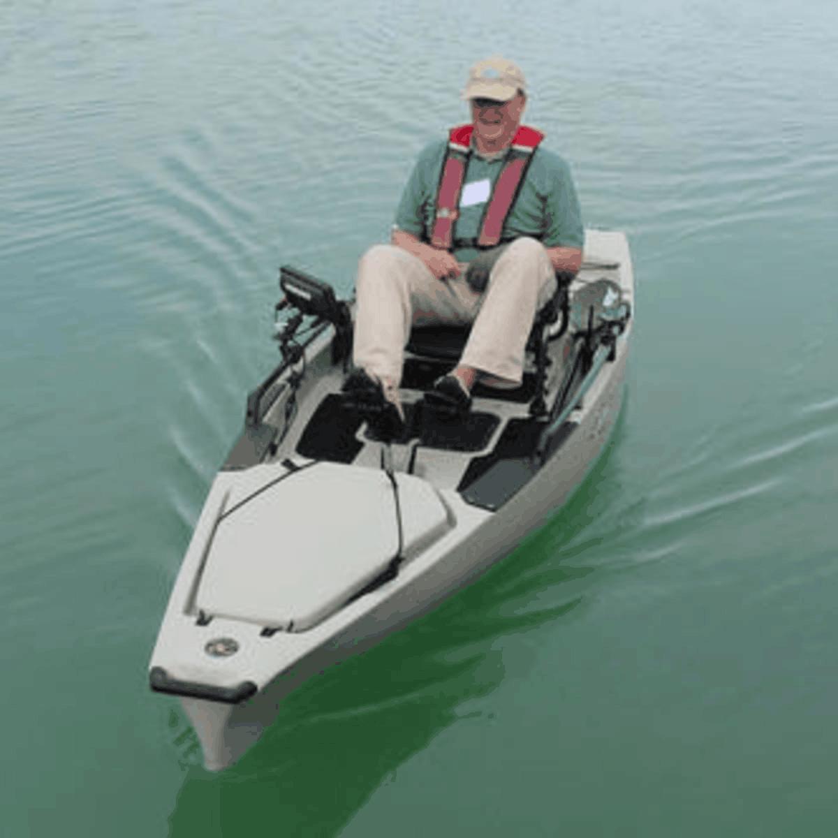 bigger fish finder for pedal driven kayaks