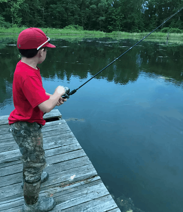 fishing with a child