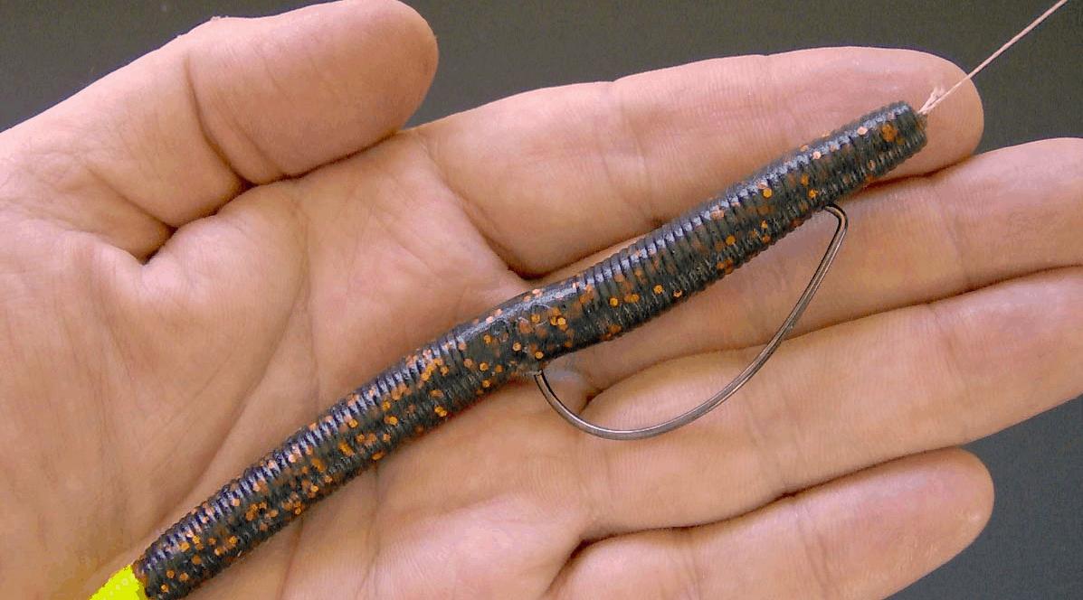 weightless senko worm for bass fishing